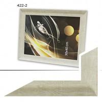 Ф/рамка пластик (422-2) 30*40 ЛЮКС 45мм белен дуб (12)