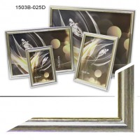 Ф/рамка пластик  30*40 (1503-453А)серебро(18)