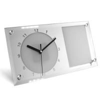 """Часы стекло BL-11 """"Прямоугольник""""16*30 д/сублимации(12)"""
