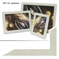 Ф/рамка пластик (867) 15*21 мрамор светлый(30) 27ммАКЦИЯ