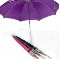Зонт-трость механический D80см 6цвет(1/60)10598-5 пластик прозрачн ручка