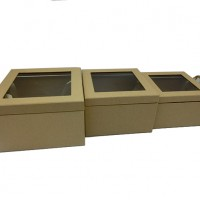 Комплект коробок из 3-х шт 25,5х25,5х13 см ( 21,5х21,5х11 см ) арт. 71-3