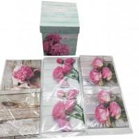 Комплект коробок из 4-х шт. круглые  23х23х25 см ( мал  15х15х20 см)  арт.84
