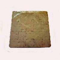 Пазл для сублимации 16*16 пластик ДВУХСТОРОННИЙ 25 элементов HT-3DP015