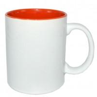 Кружка цветная (оранж) внутриD8,2 см H9,5 см(1/12/36)