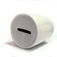 Копилка белая D-7,9см, H-9,4см