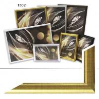 Ф/рамка пластик (1302-139) 15*21 золото(38)