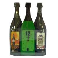 Ф/рамка с часами дерево  M8103 Шампанское(12)