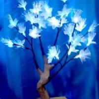 Лампа декоративная ЦВЕТЫ 30 светодиодных ламп(30)от сети220В