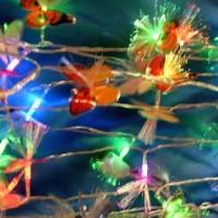 Гирлянда декоративная ЦВЕТЫ 28 светодиодных ламп(150)от сети220В