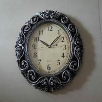 Часы пластик КЛАССИКА овал35*50см (5)7192B