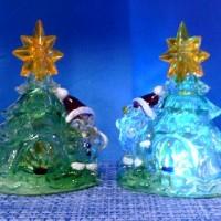 Фигурка декор пластик ЕЛОЧКА 15cm со светодиод(120)S6000BLPH