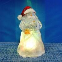 Фигурка декор пластик СНЕГОВИК 10cm со светодиод(240)C6000XRLC