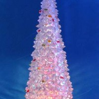 FF/Фигурка декор пластик ЕЛОЧКА 30cm со светодиод(24)28-30