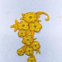 Термонаклейка ЦВЕТЫ желтые 12см ТН20