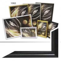 Ф/рамка пластик (1302-012J) 10*15 черный(44)