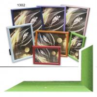 Ф/рамка пластик (1302-656) 10*15 зелен(48)