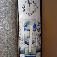 Часы МДФ+стекло ПРИРОДА верт(10)76*26