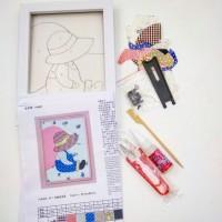 Набор д/творчества R017 13*18 МАЛЬЧИК(плакетка+ткань,пинцет+ножницы)