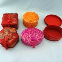 """FF/Шкатулка для ювелирных изделий  ткань+картон """"Китайские мотивы""""5форм (240)6630-1"""