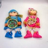 """Панно текстильное  настенное """"Кукла-кормашки"""" для мелочей 35146-9(200)"""