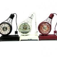 Часы настольные металл ЛАМПА РЕТРО24*18см(24)15STC423/412/425