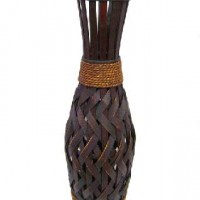 FF/Ваза декоративная плетеная дерево 58см(15)   14004