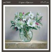 Папертольная карта Цветы  F009  1-A3