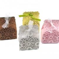 Коробочка для подарка Резная 8*5*3 см   10423-3  4 цвета