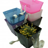 Коробка подарочная 23,5х23,5х15 см / пластик  10793-3
