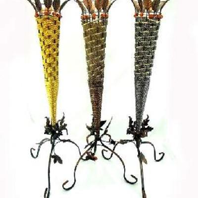 Ваза декоративная плетеная, металл 225-1(50)
